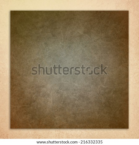 vintage white background, brown leather layer illustration on beige frame with distressed aged texture design - stock photo