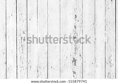 Vintage  white background of natural wood old wall - stock photo