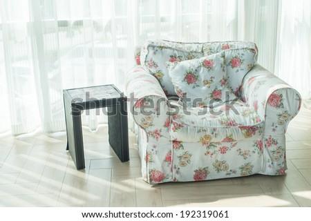 Vintage white sofa  - stock photo