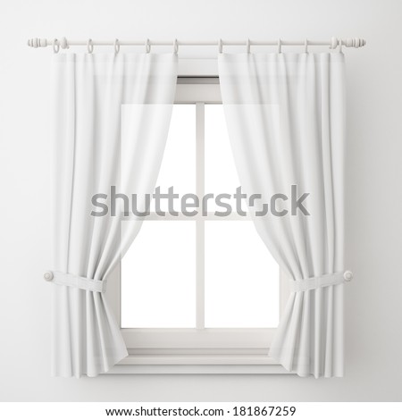 vintage white window frame with curtain isolated on white background  sc 1 st  Shutterstock & Window Curtain Stock Images Royalty-Free Images \u0026 Vectors ...