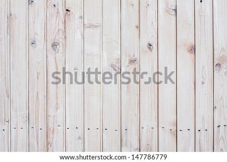 Vintage white wood planks texture background - stock photo