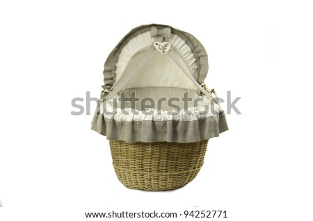 Vintage wicker Cot - stock photo