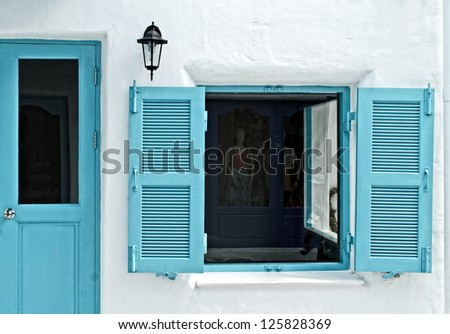 Vintage window - stock photo