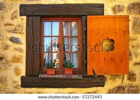 Vintage window - stock photo