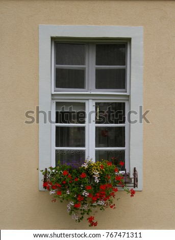 vintage windows in the wall