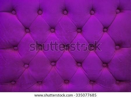 Vintage wine color leather upholstery buttoned sofa (background) - stock photo