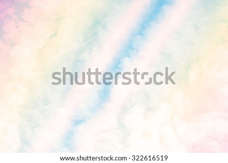 Vintage with A soft cloud background with a pastel colored orange to blue gradient. - stock photo