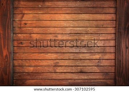 vintage wood background texture dark frame border design - stock photo