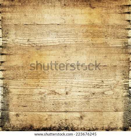 Vintage wood board - stock photo