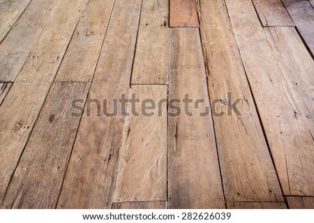 Vintage wood floor, Wood background. - stock photo