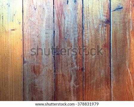 Vintage wood panel fine arranged as wall for interior design and exterior decoration - stock photo