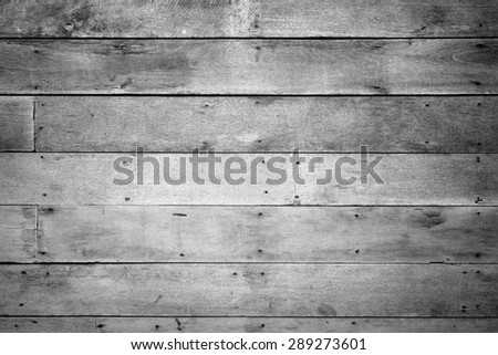 Vintage wood panel from old house black and white version - stock photo