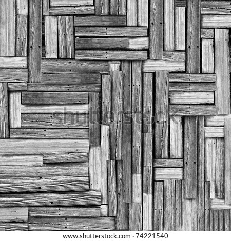 Vintage wood pattern texture background - stock photo