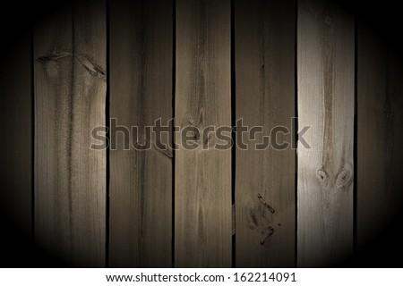 Vintage Wood Planks with Spotlight - stock photo