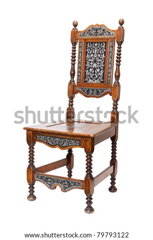 vintage wooden chair - stock photo