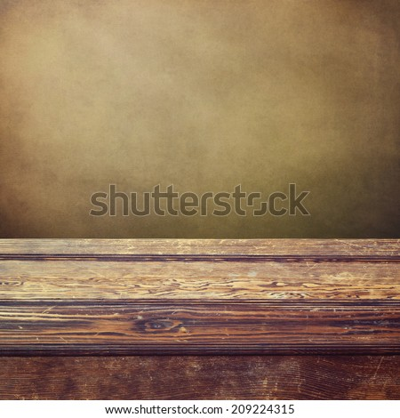 Vintage wooden counter background  - stock photo