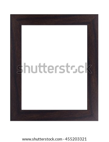 Vintage wooden frame isolated on white with clipping path