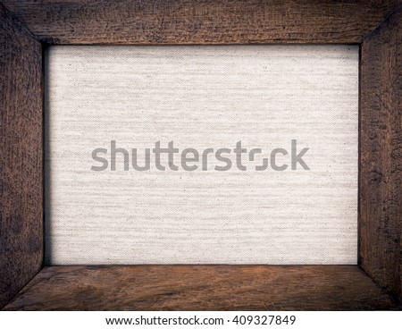 vintage wooden frame with hessian texture background - Wooden Photo Frames