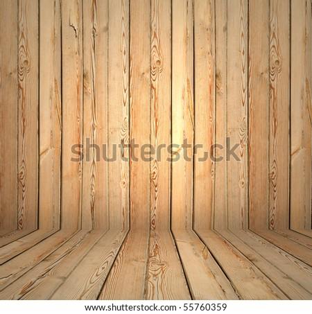 vintage wooden interior - stock photo