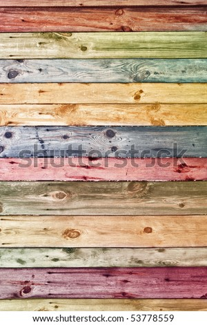 vintage wooden planks wall background - stock photo