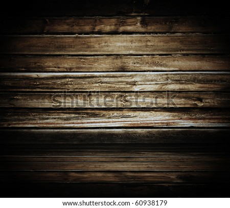 vintage wooden room - stock photo