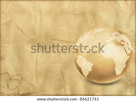 Vintage world globe - stock photo