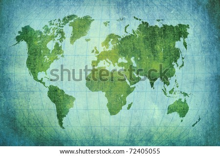 vintage world map background - stock photo