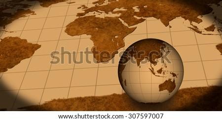 Vintage world maps globe stock illustration 307597007 shutterstock vintage world maps with globe gumiabroncs Images