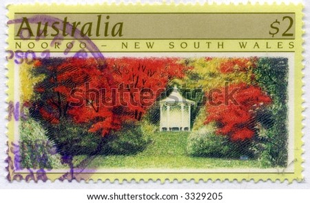 Vintage World Postage Stamp Ephemera (editorial) - stock photo
