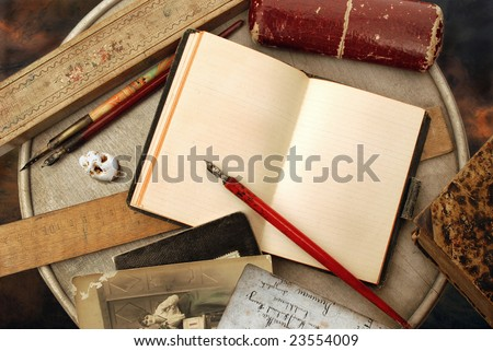 Vintage writing - stock photo