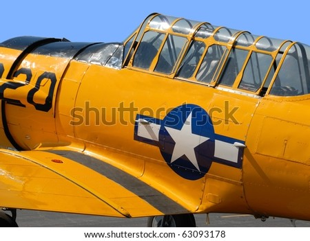 Vintage WWII fighter aircraft