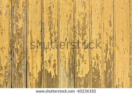 vintage yellow weathered wooden background - stock photo