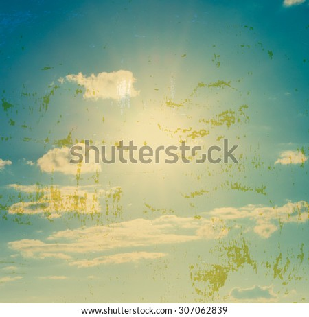 Vintege sky background