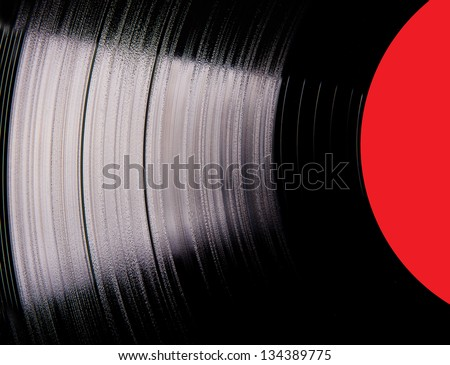 Vinyl disc close-up - stock photo