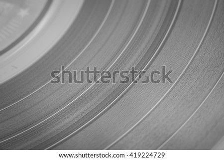 Vinyl disc close-up. - stock photo