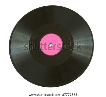 Vinyl disc isolated on white