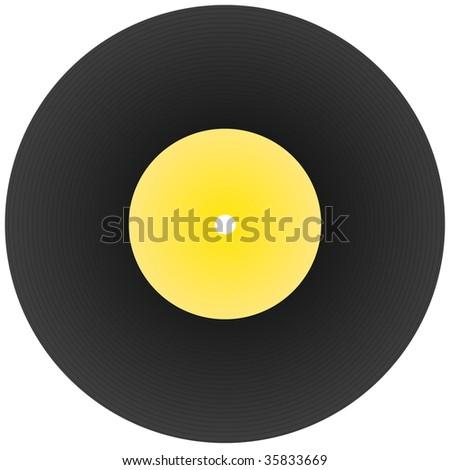 vinyl disc record isolated on white background - stock photo