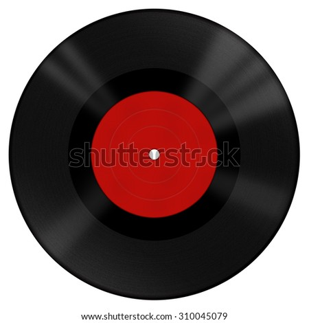 Vinyl disk with red label