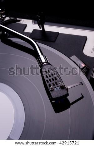 Vinyl Player Tonearm - stock photo