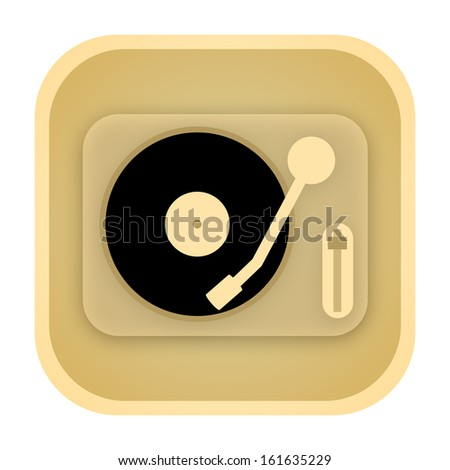 Vinyl player vintage icon - stock photo
