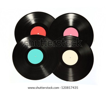 vinyl record - stock photo