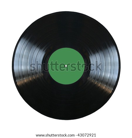 vinyl record isolated