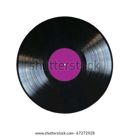 vinyl record isolated - stock photo