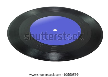 Vinyl Record isolated on a white background.