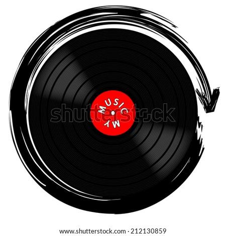 Vinyl record-LP - stock photo
