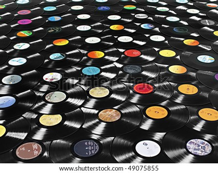 Vinyl Photos Vinyl Record lp Stock Photo