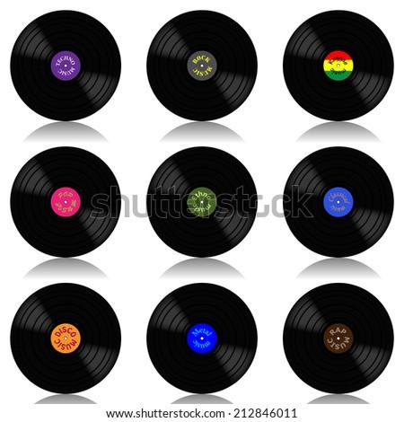 Vinyl record-LP set - stock photo