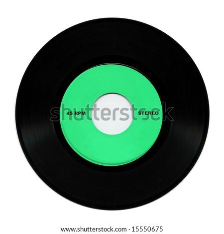 Vinyl record music recording support - stock photo