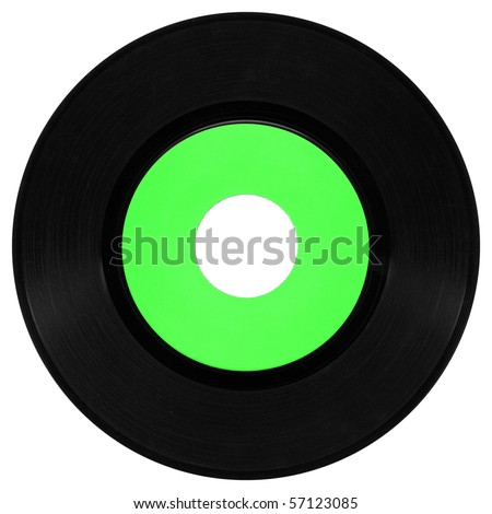 Vinyl record vintage analog music recording medium
