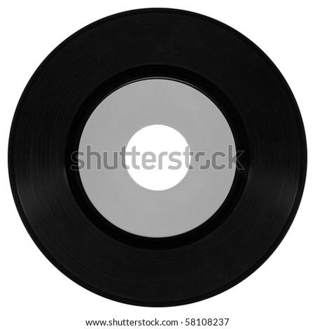 Vinyl record vintage analog music recording medium - stock photo